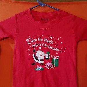 """Pajamas /& Book /""""Twas The Night Before Christmas/"""" Bookjamas Girls New 4T"""